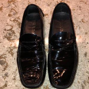 Prada Black Patent Driving Shoes